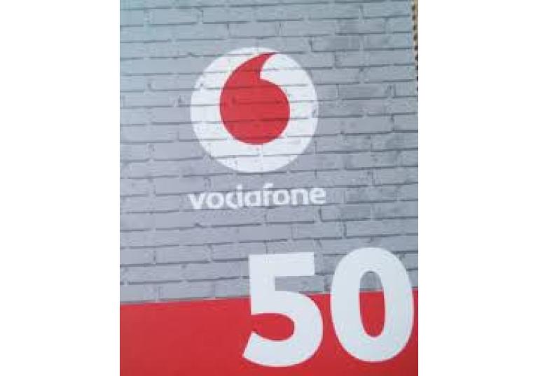 Карточка поповнення 50 грн. Vodafone.  Україна