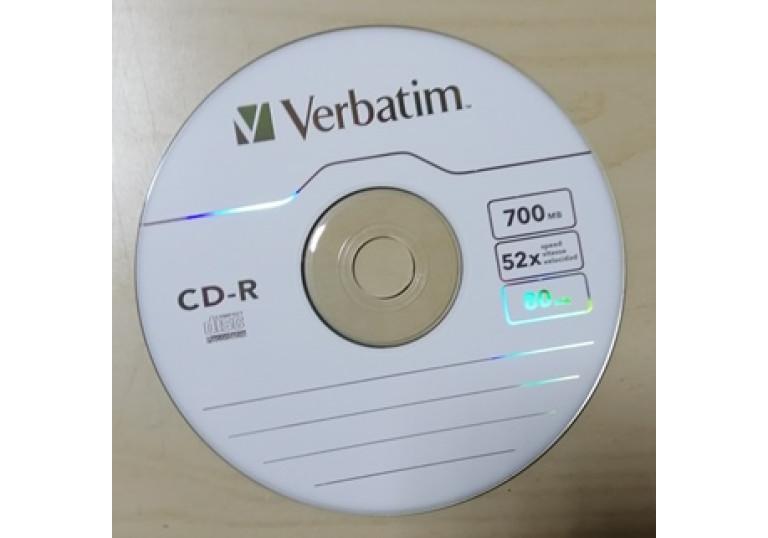 Диск CD-R Verbatim 700MB Slim