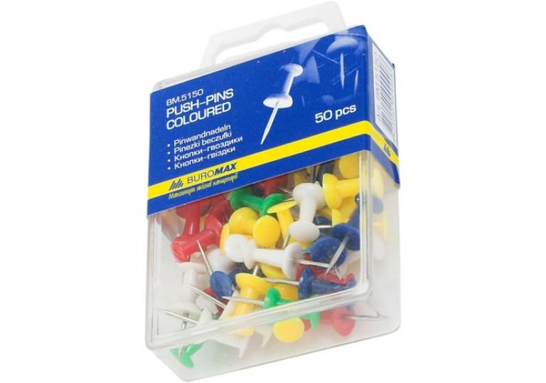 Кнопки-цвяхи 50шт кольорові пластик.уп 8305200000