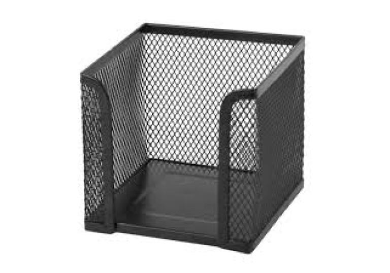 Куб металевий для паперу 100х100х100мм чорний