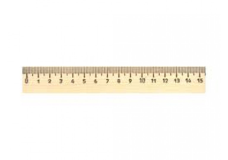 Лінійка дерево 15см