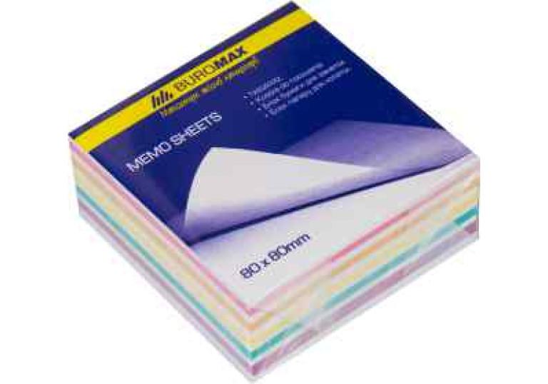 Папір для записів 80х80мм 300арк проклеєний кольоровий