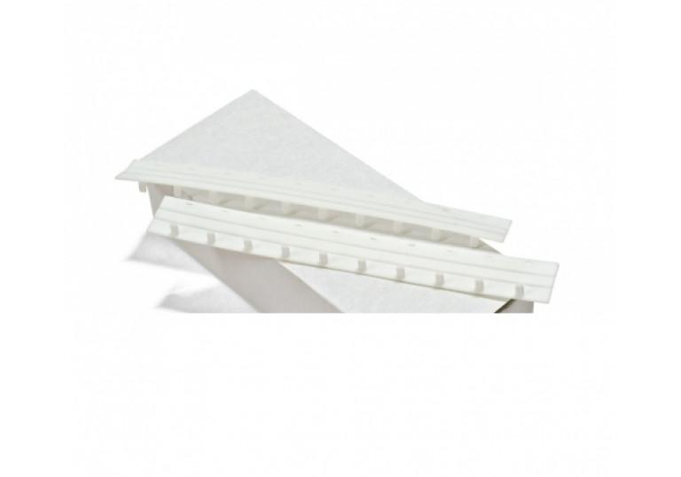 Пресс біндер 12,5мм білий (50шт)