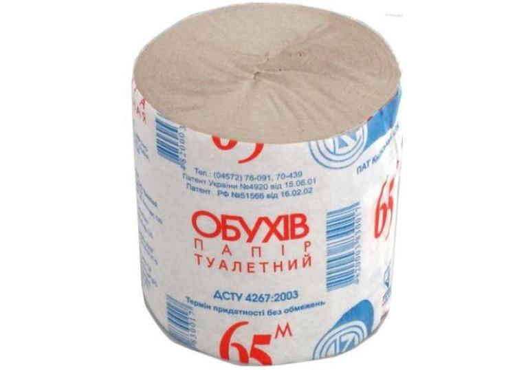 Туалетний папір Обухів 65м